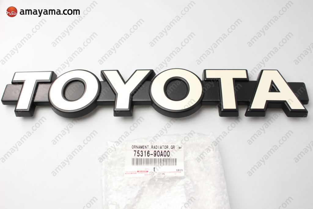 Toyota 7531690A00 - ORNAMENT, RADIATOR GRILLE
