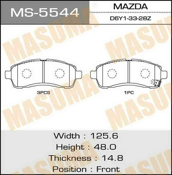 MASUMA MS5544 - Колодки тормозные, комплект