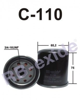 RB-exide C110 - FILTER, OIL