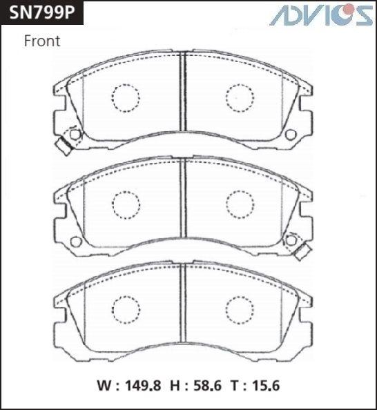 ADVICS SN799P - Дисковые тормозные колодки