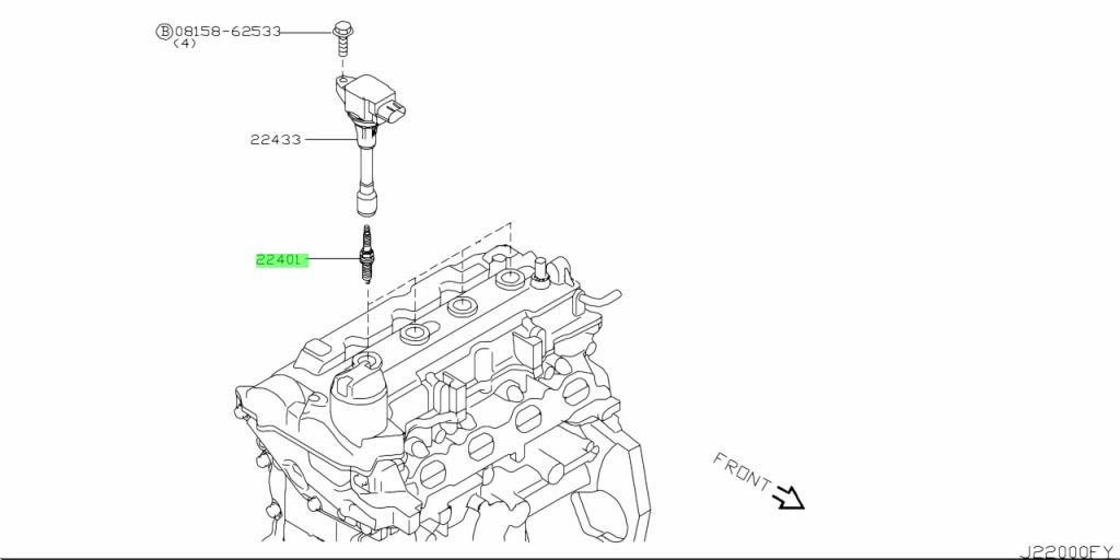Genuine Nissan 22401ED71A - PLUG, SPARK