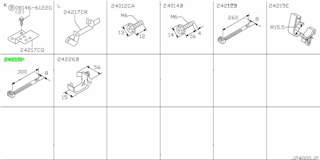 Nissan 24220R2000 - Хомут пластиковый