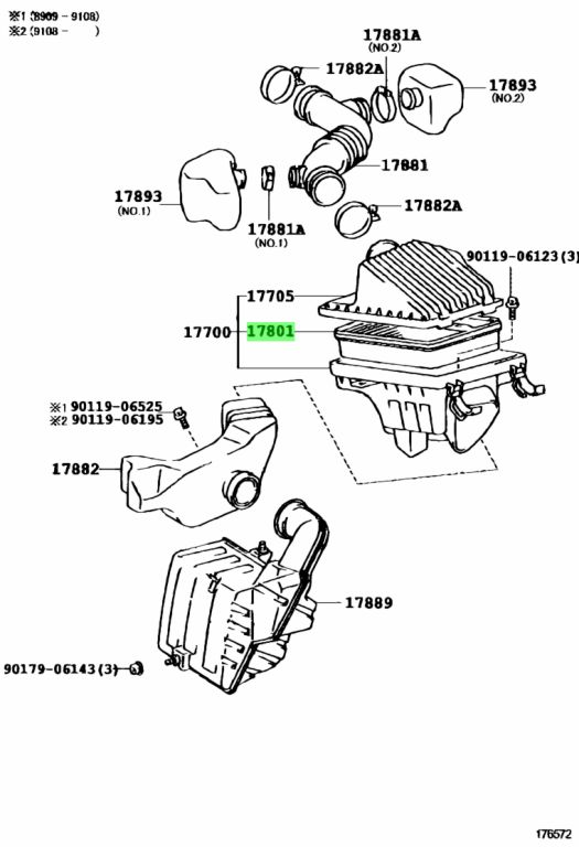 Genuine Toyota 1780116020 - ELEMENT SUB-ASSY, AIR CLEANER FILTER