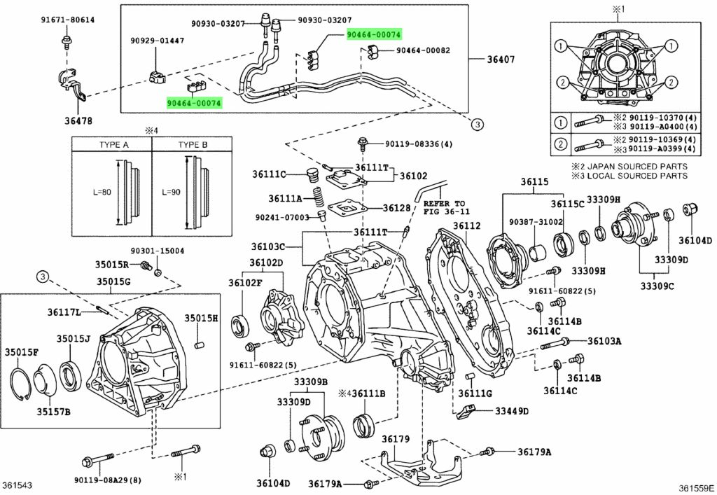 Genuine Toyota 9046400074 - CLAMP (FOR IDLE UP DIVICE), NO.1;JOINT, NO.1 (FOR IDLE UP DIVICE)
