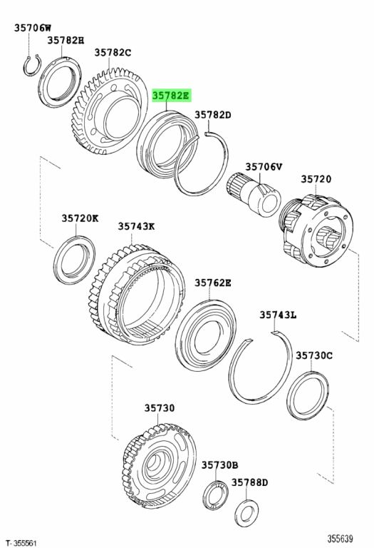 Genuine Toyota 9036972001 - BEARING (FOR COUNTER DRIVE GEAR)