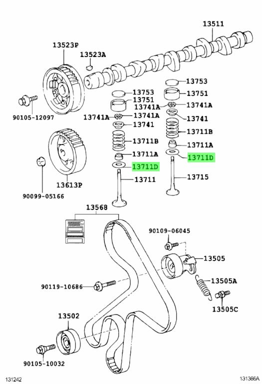 Genuine Toyota 9020122010 - WASHER, PLATE (FOR VALVE SPRING SEAT)