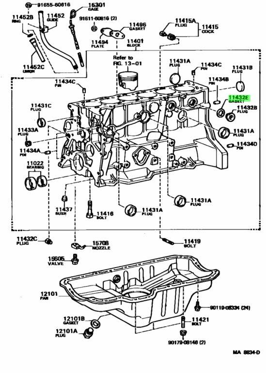 Toyota 9043032222 - GASKET