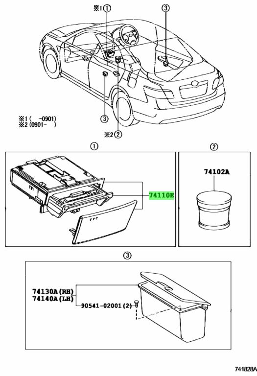 Genuine Toyota 7411033270 - RECEPTACLE ASSY, FRONT ASH