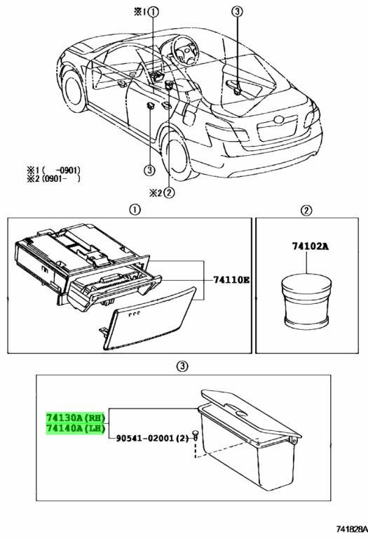 Genuine Toyota 7413033070E0 - RECEPTACLE ASSY, REAR ASH