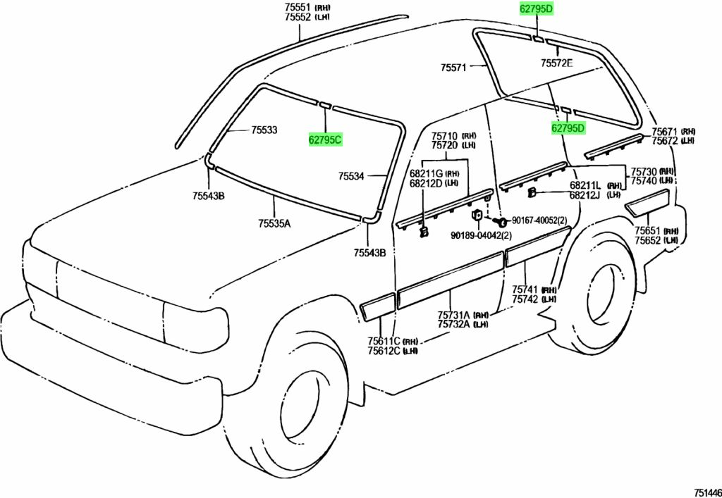 Genuine Toyota 62795-90A00 Quarter Window Molding Joint Cover