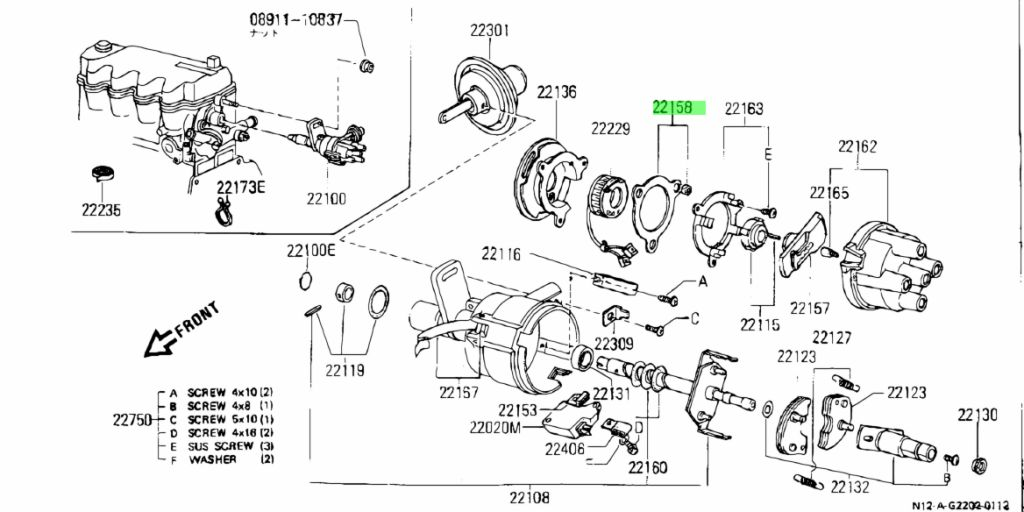 Genuine Nissan 22158S6700 - MAGNET ASSEMBLY