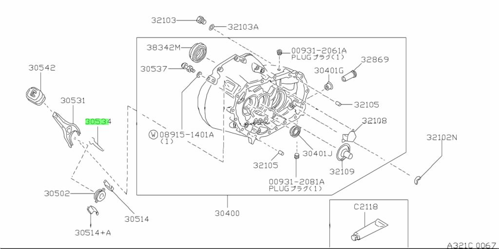 Genuine Nissan 3053403E00 - SPRING, RETAINER WITHDRAWAL LEVER;SPRING-RETAINING,WITHDRAWAL LEVER