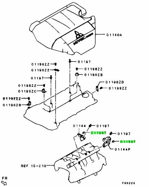 Mitsubishi MF241224 - Болт