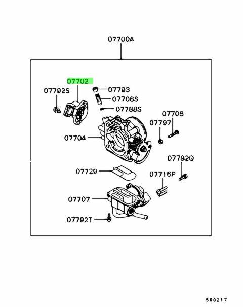 Mitsubishi MD628074 - Датчик положения дроссельной заслонки