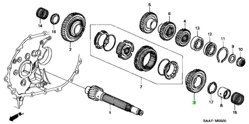 Honda 23431PWLB00 - GEAR, COUNTERSHAFT SECOND