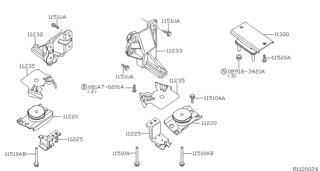 Engine & Transmission Mounting (Unit)